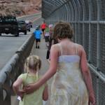 crossing the Glen Canyon Bridge
