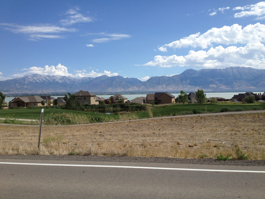 We passed by this housing community on the far side of Utah Lake.