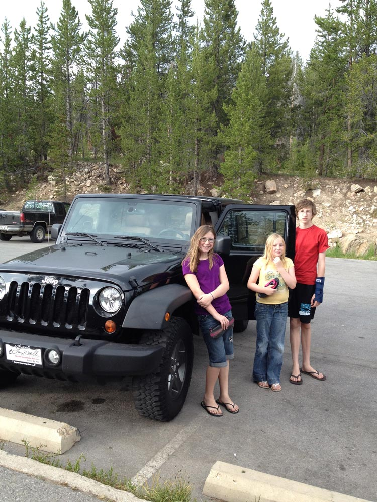 Our new Jeep on the first excursion.
