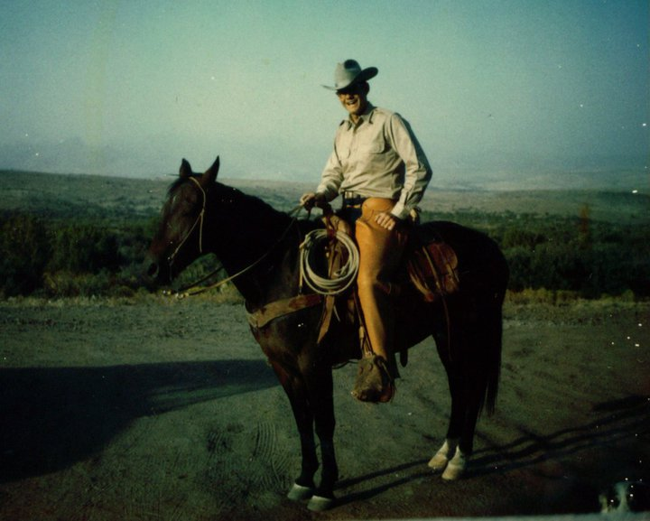 My dad, the cowboy.  I think this is on the ranch in CO.