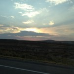 Another view of the sunset, this time I think it was Utah