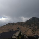 A look over the mountains as the lightning storm came rolling in.