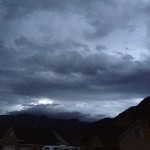 More pictures of the storm clouds