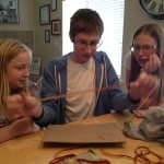 The girls thought he was way too slow and opening gifts.