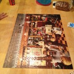 Puzzle night for Daddy and Netter