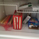 Image of what we have in the freezer at work, the essentials of course