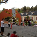 This is the finish line for the Haunted Half Marathon, which again, we an awesome scene.