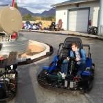 Kas cruising around on the track