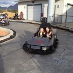Netter was driving the kart and Zo was praying for her life