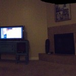 This is our living room, using the new panoramic photo thingy-ma-jig that the new iOS has out, the commercial lies though, it is hard to keep on that line, not easy at all