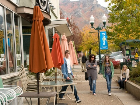 After dropping off Sid for the BYU game, they hung out in downtown Provo