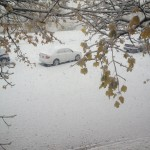 And after a couple few hours this is how the back parking lot looked. Many cars had multiple inches of snow piled on top