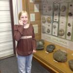 Zo at the Dinosaur exhibit at BYU