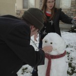 Kas is taking the face very serious, this snowman must be the best, but then again, it is a SnowHird, so it will be