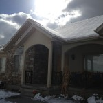 The sun over our house with the snow, really made it look good, and the snow was starting to melt, will be gone by next week