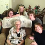The family as we visited with Grandma Haws, and I am so glad to see her again