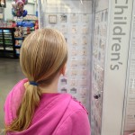 Zo perusing the bounty to choose from in order to get the holes in her ears