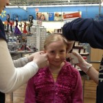 Zo was lucky enough to get both ears done at the same time