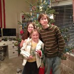 My beautiful kids who are sweet and tender hooligans that helped decorate the tree