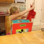 You know they're growing up when they are excited to open clothes on their birthday