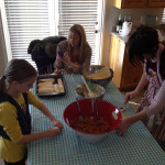 Elise and one of the other families from the Ward were making tamales for the Holiday meal