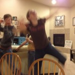 So those lights and excitement made the kids dance the Hird Disco