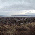 Took this panoramic image at the parking lot at the Y hiking trails. It was a great site, and we ate donuts too.