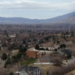 This is a shot of the MTC and the Provo Temple, I am not sure why I took it, but it does look serene