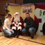 Elise and I decided since none of our kids were willing to sit on Santa's lap, we would do that