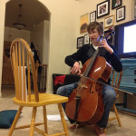 Kas's talent was to play the Cello for us, and he is getting real good at it too