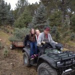 Zo and Netter, the tree knappers, getting away.