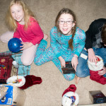 With gifts in their hands and a smile on their face, they know that the Hird home is the best place