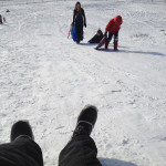 Sledding time can be fun, even with a camera